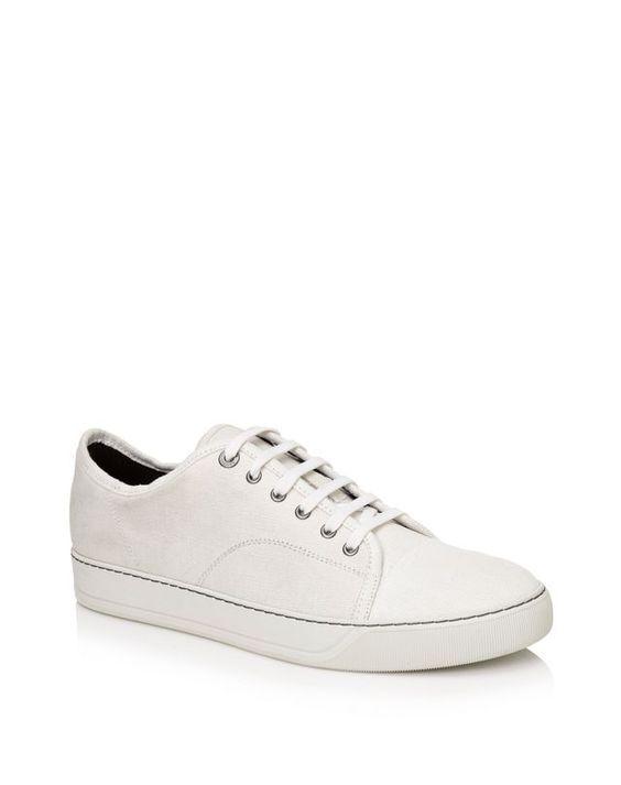 Low sneakers in waxed linen