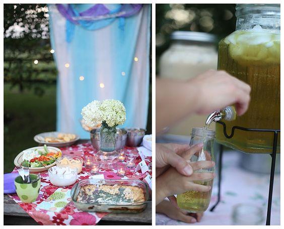 backyard garden party, iced tea