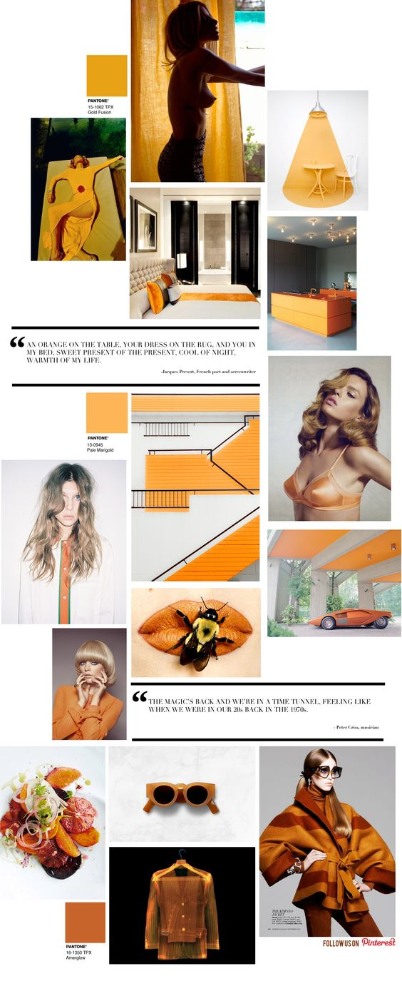 Curating the Curated: Orange: Trendland Curating, Orange Trendland, Trendland Orange, Moodboards Patterns