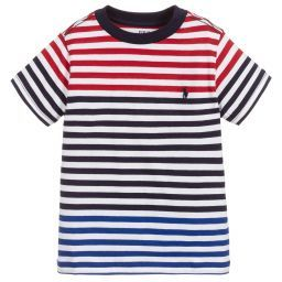 Polo Ralph Lauren Boys Striped Cotton T Shirt