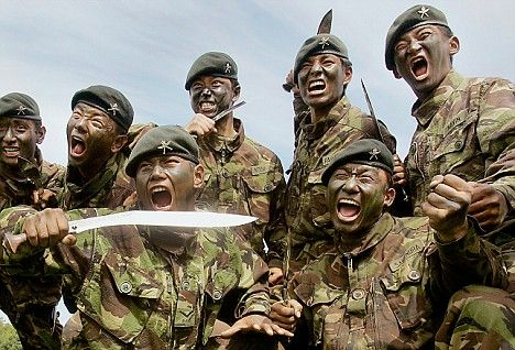 Gurkha soldiers in the British army There are currently around 3,500 Gurkhas serving in the British army, and it has been suggested that the government still considers Gurkha units to be 'overmanned'.