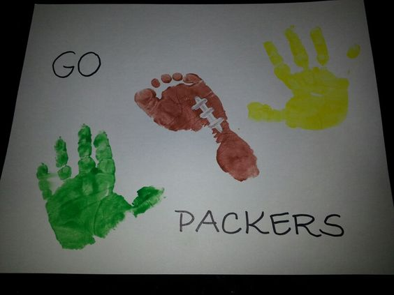 Packers Hand & Foot Print I'm doing this for Lars!