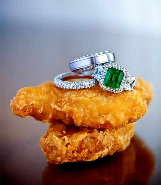 I dont understand why these go together but i think its funny    Chicken wings and wedding rings, hilarious photo by Jay Lawrence Goldman