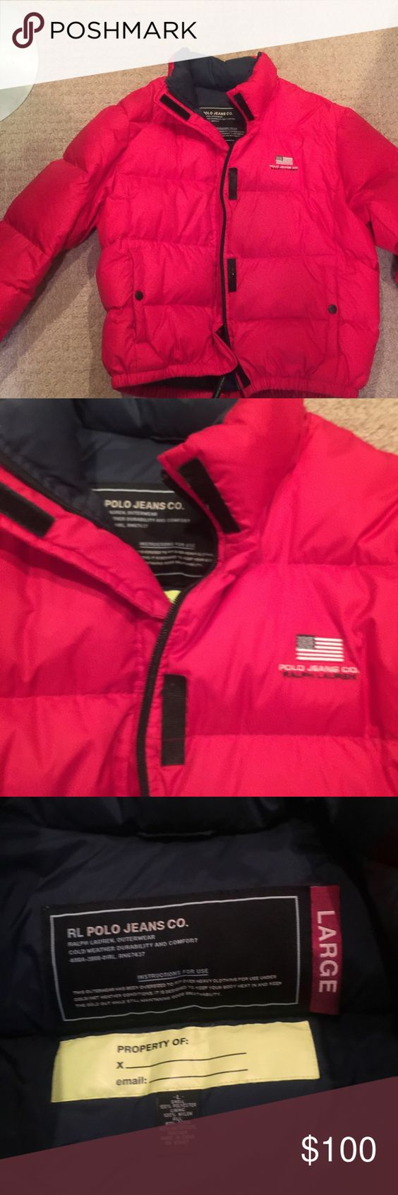 Polo red puffer jacket Awesome warm jacket Polo by Ralph Lauren Jackets & Coats Puffers