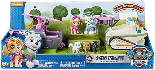 Amazon Com Paw Patrol Adventure Bay Animal Rescue Skye Everest Toys Games Animal Rescue Paw Patrol Paw