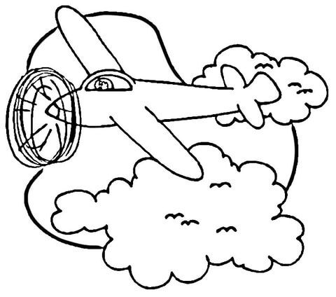 Airplane In Sky Coloring Page From Airplanes Category Select From 30582 Printable Crafts Coloring Pages Free Printable Coloring Pages Printable Coloring Pages