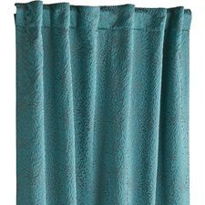 Stella Embossed Curtain - Teal/Gray