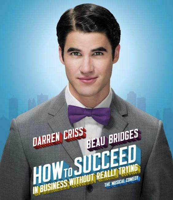 Darren Criss as J. Pierrepont Finch in How To Succeed-gooブログ