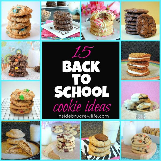 15 Back To School Cookie Ideas for lunch boxes and after school treats.  #backtoschool #cookies