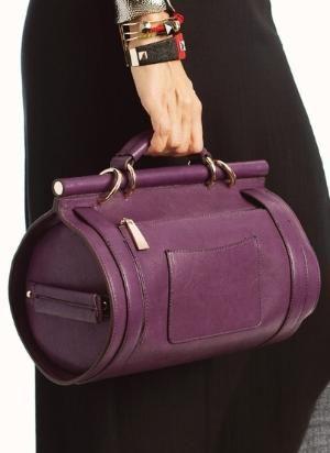 buckle strap cylinder bag by viola