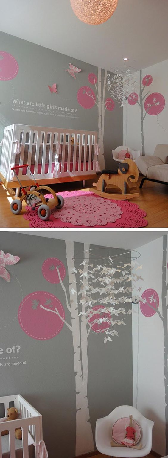Habitaci n del beb guarder as and rosa on pinterest - Habitaciones para bebe nina ...