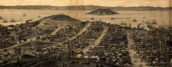 Birdseye #map of #SanFrancisco from Russian Hill (1862)