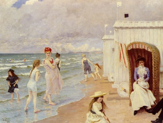 Paul Gustave Fischer - Day at the Beach: