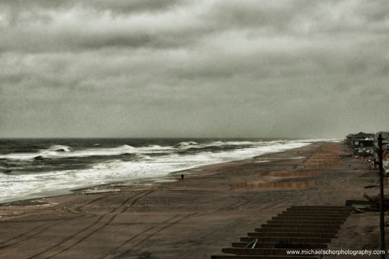 The ocean is quickly enveloping the beach. This is promising to be the biggest storm of 2013.