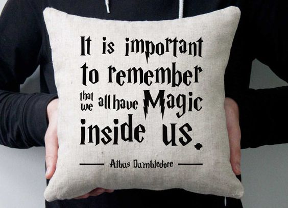Harry Potter phrase pillow. Linen-cotton pillow. Handmade pillow. Pillow with inscription Dumbledore phrase, Inspired by Harry Potter Quotes