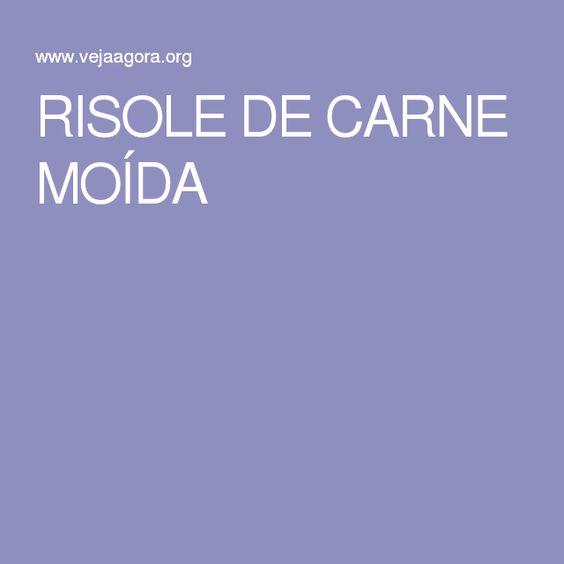 RISOLE DE CARNE MOÍDA
