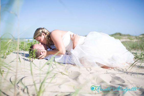 Trash The Dress ~ Outer Banks Coquina Beach Nags Head Kristi Midgette Photography www.kristimidgette.com