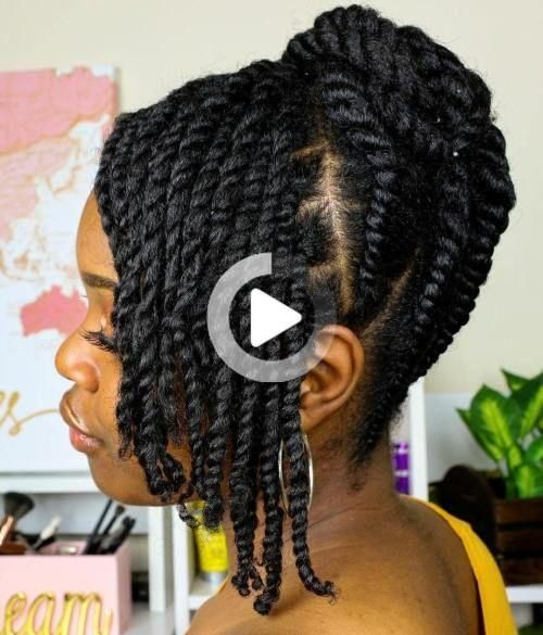 60 Easy And Showy Protective Hairstyles For Natural Hair Cheveux Naturels Coiffure Naturelle Coiffure