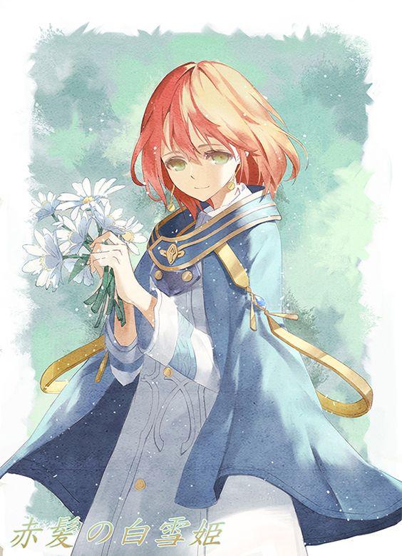 悲しそう赤髪の白雪姫