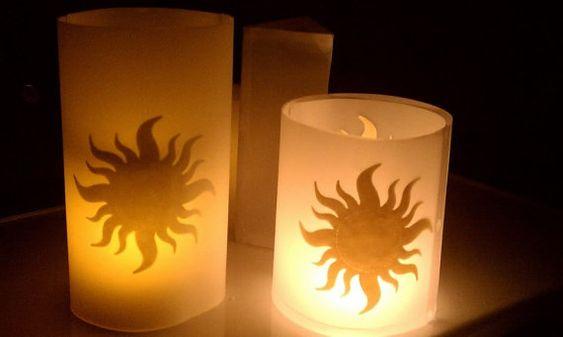 sun lantern template   Tangled Decorations: Up Close! Floating Lantern Tea Lights!   Author ...