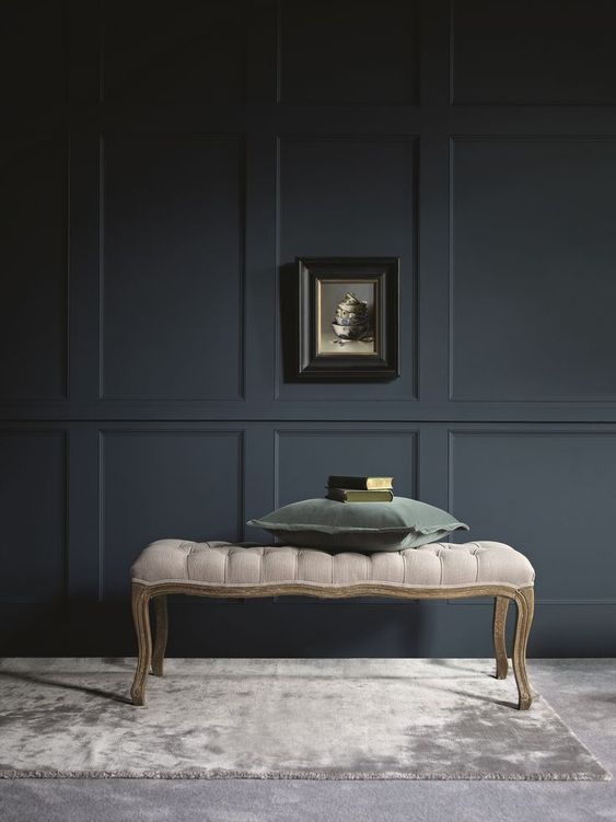 Very Dark Grey Wall Molding Is A Great Idea To Add A Refined Touch To The Interior Wooden Panelling Millwork Wall Rustic Wainscoting