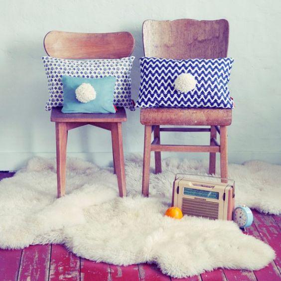 pompom pillows ⎮ Marika Giacinti