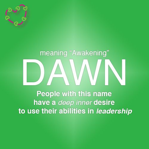 Dawn Name Meaning