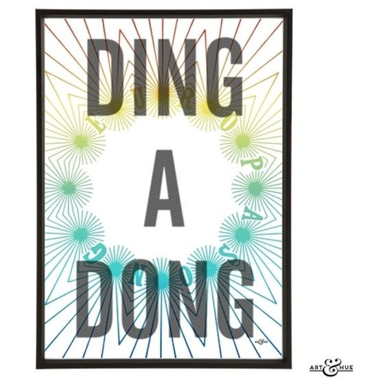 White Mint Ding A Dong Art Print (£15) ❤ liked on Polyvore featuring home, home decor, wall art, inspirational home decor, unframed wall art, white home accessories, inspirational wall art and white wall art