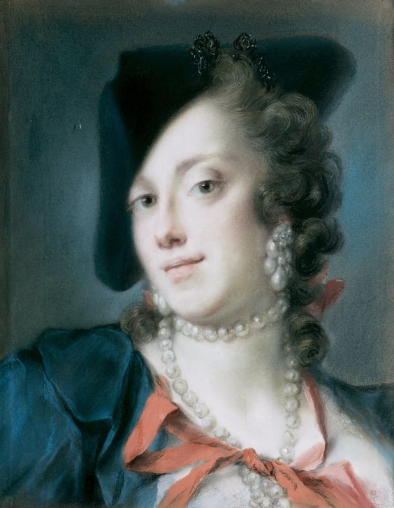Rosalba Giovanna Carriera! (1675 - 1757) Very Early Female Pioneer; pastel medium: