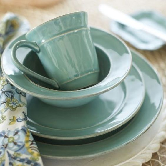 Pottery Barn Blue Kitchen Set: Dishes Finally Got Delivered! Pottery Barn Cambia Teal