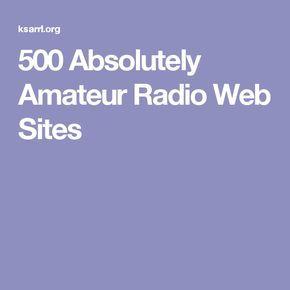 500 Absolutely Amateur Radio Web Sites