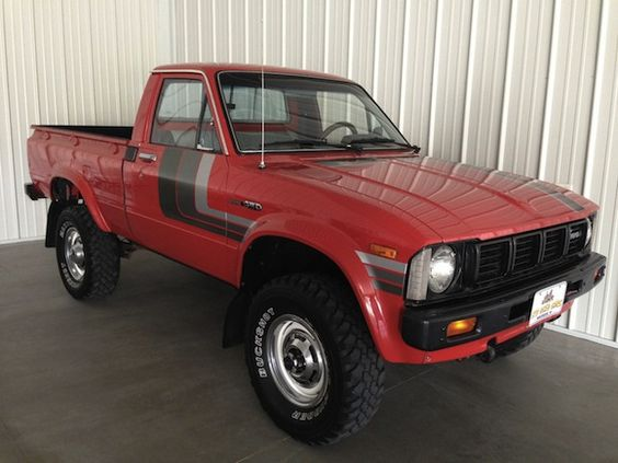 1980 toyota pickup 4x4 for sale red stripes fj40 wheels art on wheels pinterest vehicles. Black Bedroom Furniture Sets. Home Design Ideas