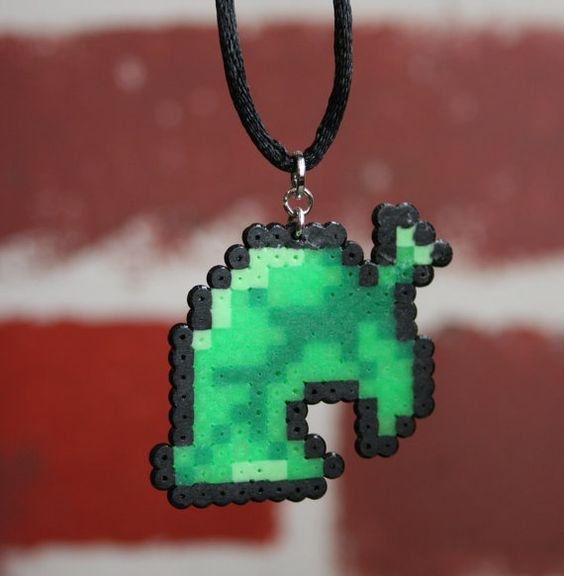 Animal Crossing New Leaf Perler Bead Sprite Necklace