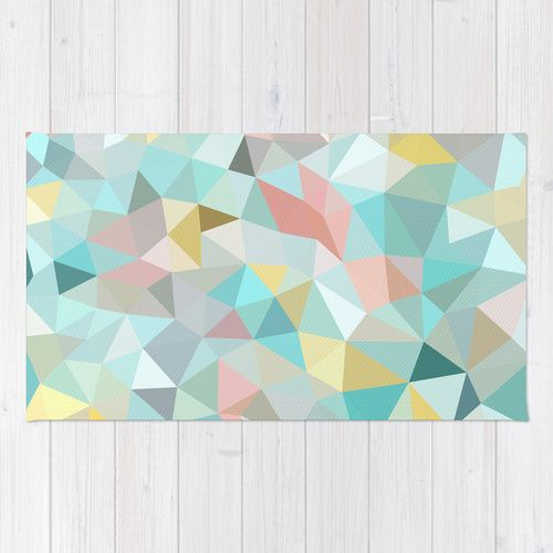 Pastel Tris Rug Pastel Products And Rugs