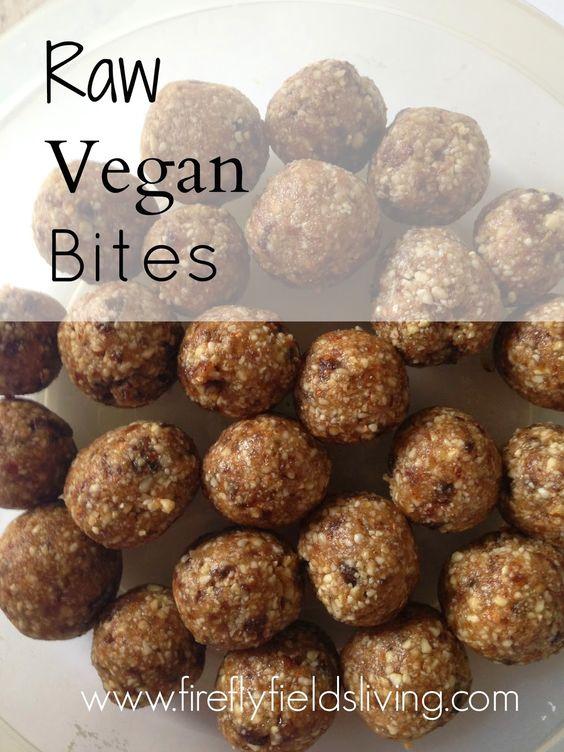 Firefly Fields Living: Recipe: Raw Vegan Bites (with Variations)