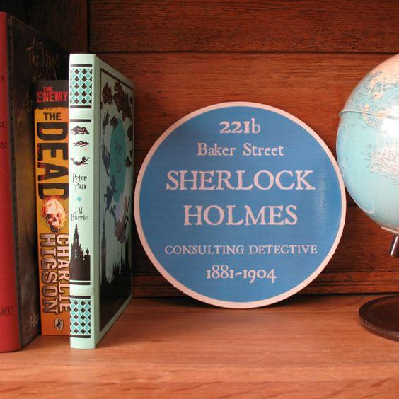 Sherlock Holmes sign, 221b Baker Street, Blue plaque, Blue heritage plaque by TheBlueSignShop