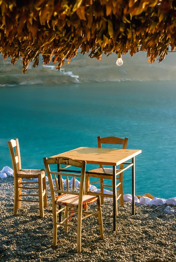 Taverna by the sea, Kalymnos, Greece