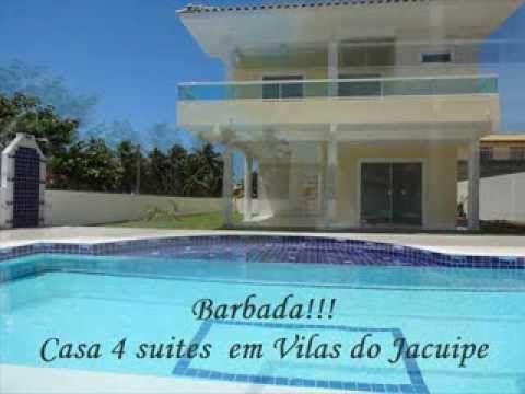 vendo casa 4 suites em barra do Jacuipe pé na areia  71-91456005