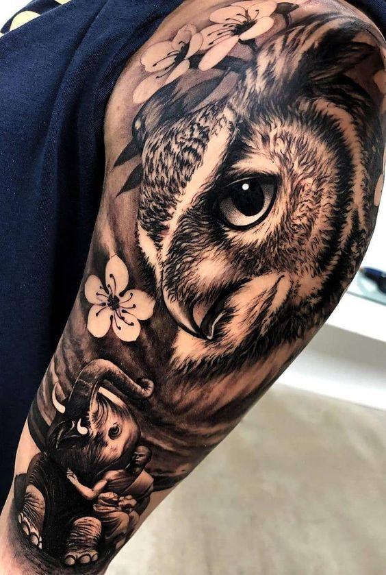 Tattoo Ideas Female Unique Pictures 31 New Ideas Creative Vision Design Girl Arm Tattoos Animal Sleeve Tattoo Realistic Owl Tattoo