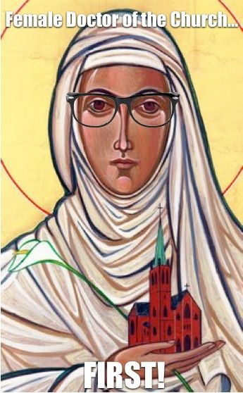 Hipster Saint Catherine of Siena (1347 - 1380) - First female Doctor of the Church, a position of theological significance. (She and St. Teresa of Avila were proclaimed Doctors in the same year, but St. Catherine of Siena was the first to be born among the two).: