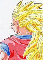 ''What Did You Say?!''  - SSJ 3 Goku by SakakiTheMastermind