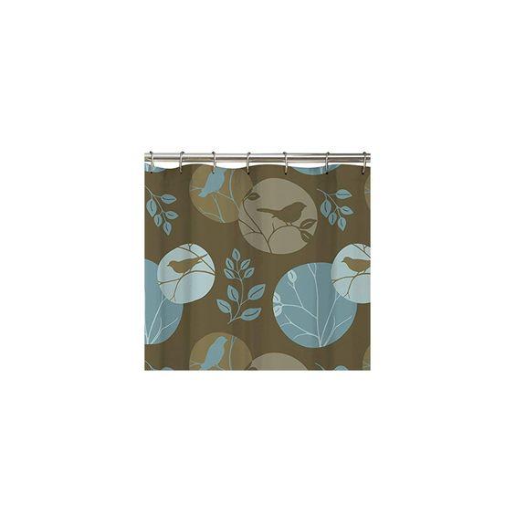 Maytex Clementine Fabric Shower Curtain