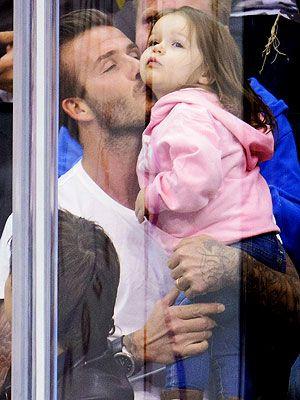 OMG too much cuteness! David Beckham with Harper Beckham