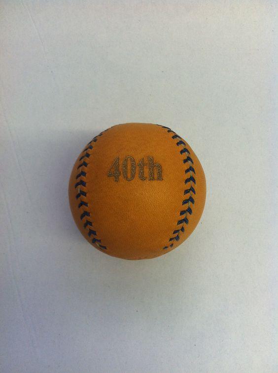 tan lemon ball engraved