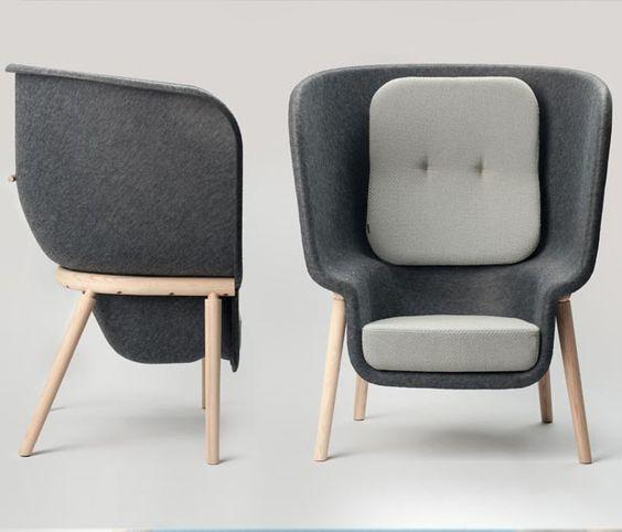 Pod chair   Designer: Benjamin Hubert - http://www.benjaminhubert.co.uk/