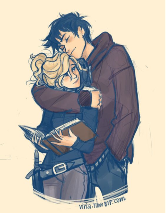 Percy & Annabeth (commonly known as Percabeth) - one of my all time favorite Viria pieces. (artist: viria.tumblr.com):