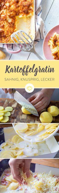 Außen knusprig, innen saftig - so soll ein sahniges Kartoffelgratin sein. Damit dein Auflauf perfekt aus dem Ofen kommt, gibt es ein paar Dinge zu beachten.