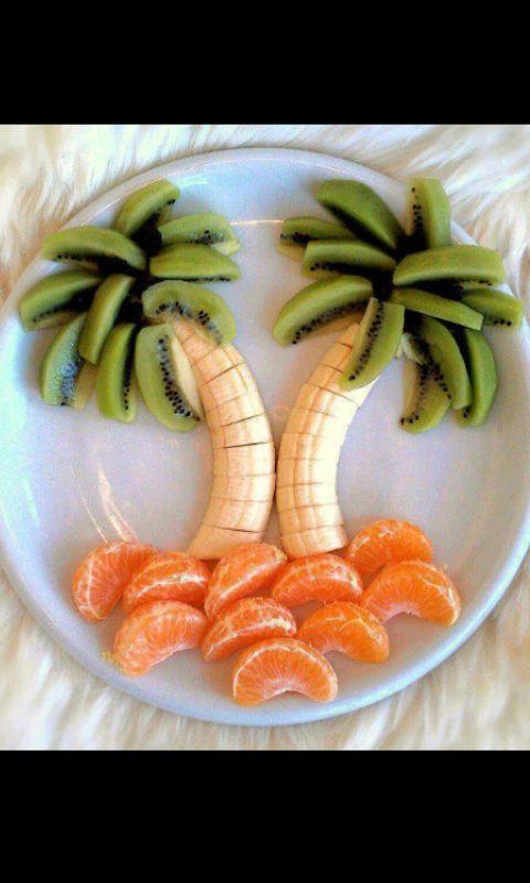 presentazione creativa della frutta: