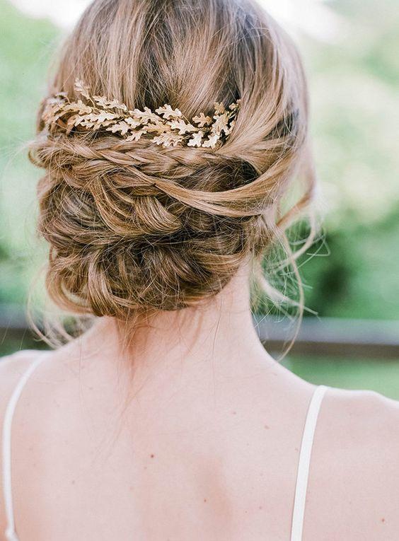 Bridal hairstyle   Wedding & Party Ideas   100 Layer Cake   Orchidée de Soie bridal headpiece   Anna Tesreshina Photography  