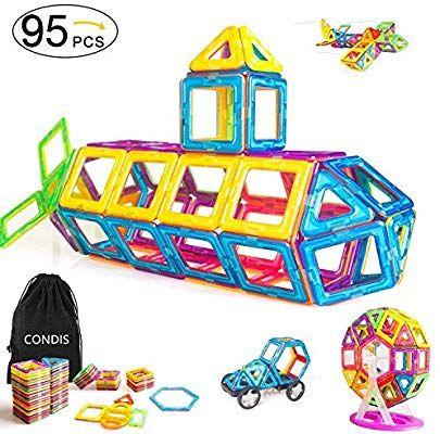 Condis Magnetische Bausteine 95 Teile Magnetspielzeug Magnete Kinder Magnetbausteine Magnet Spielzeug Kinder Magnetspielzeug Kinderspielzeug Kinder Spielzeug